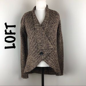 Ann Taylor Loft one button knit cardigan Sz XS